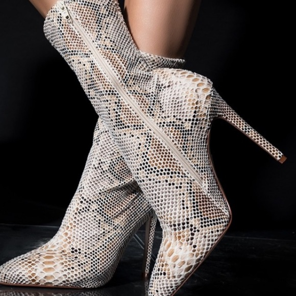 0bf7a589cac Azalea Wang Shoes | Snakeskin Ankle Bootie | Poshmark
